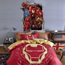 Vinilos decorativos 3d marvel iron man