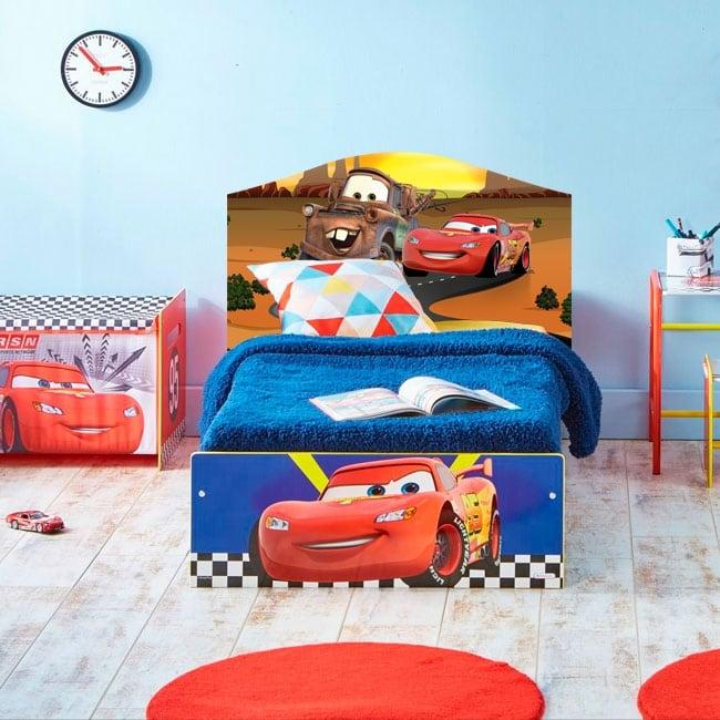 Vinilos Infantiles Disney.Vinilos Infantiles Disney Cars 2 Cabecero De Cama