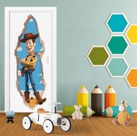 Vinilos infantiles puertas 3d woody toy story