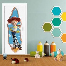 Vinilos infantiles puertas 3d jessie toy story