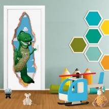 Vinilos puertas 3d dinosaurio rex toy story