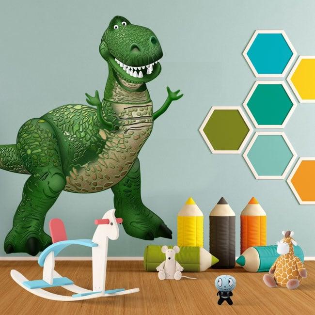 Vinilos infantiles disney dinosaurio rex toy story