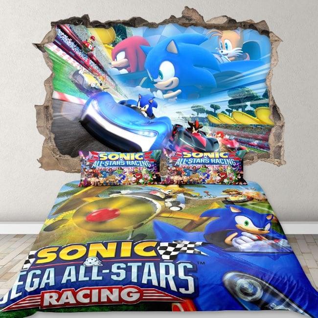 Vinilos 3d videojuego team sonic racing