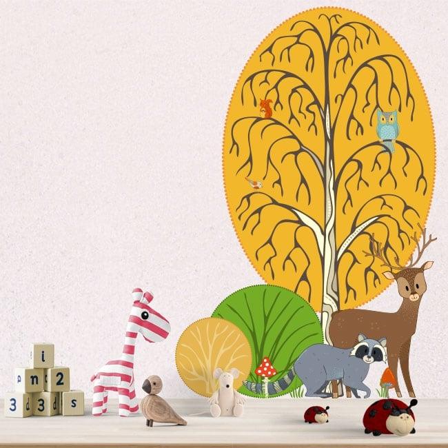 Vinilos infantiles y juveniles animales del bosque