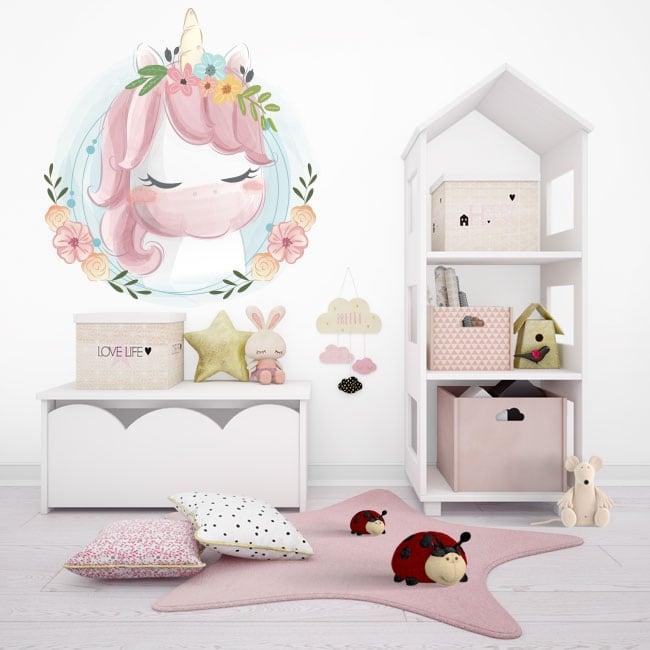 Vinilos infantiles o juveniles baby unicorn
