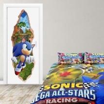 Vinilos para puertas videojuego sonic 3d