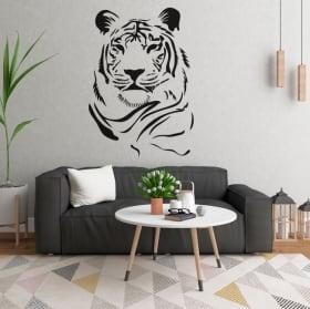 Vinilos y pegatinas silueta tigre