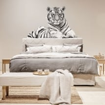 Vinilos para pared silueta de tigre