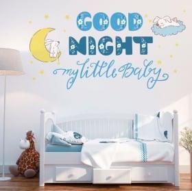 Vinilos infantiles o de bebé frase inglés good night