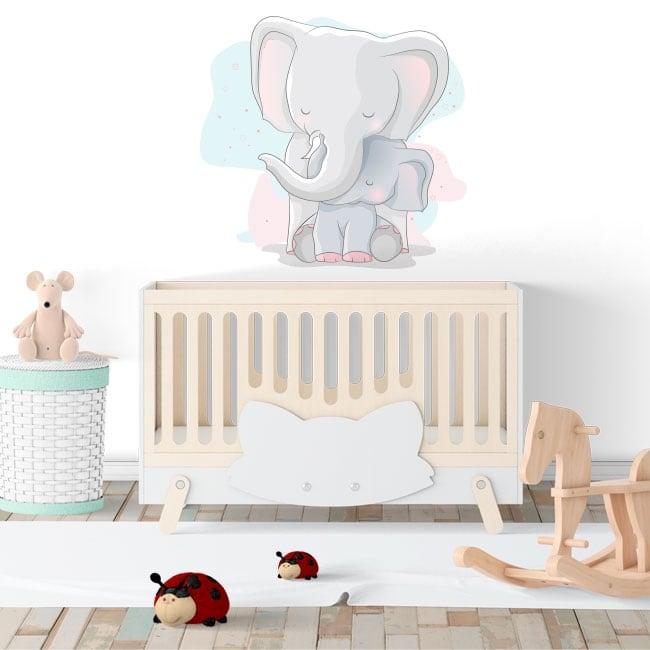 Vinilos decorativos infantiles o de bebé elefantes