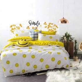 Vinilo cabecero de cama emoji smile emoticón