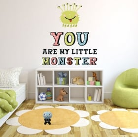 Vinilos infantiles o juveniles monstruo con frase en inglés