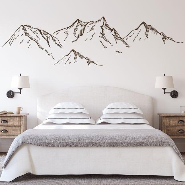 Vinilos para pared montañas salvajes