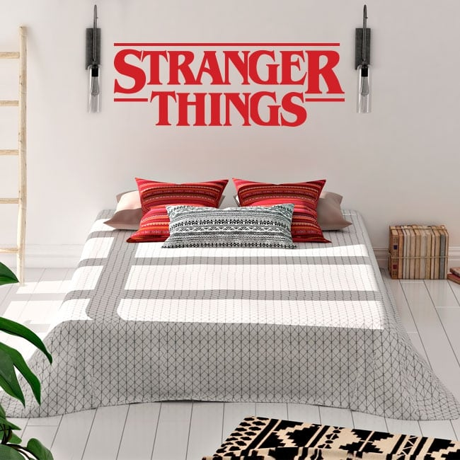 Vinilos y pegatinas logo series tv stranger things