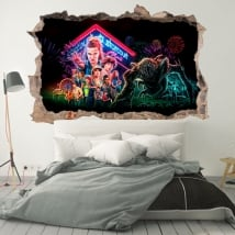 Vinilos decorativos 3d netflix series tv stranger things