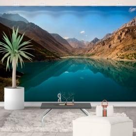 Fotomurales de vinilos lago y montañas