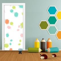 Vinilos para puertas salpicaduras de colores