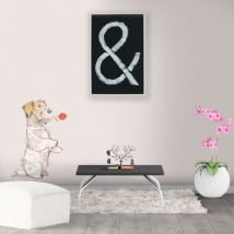 Vinilos decorativos y pegatinas perro con rosa