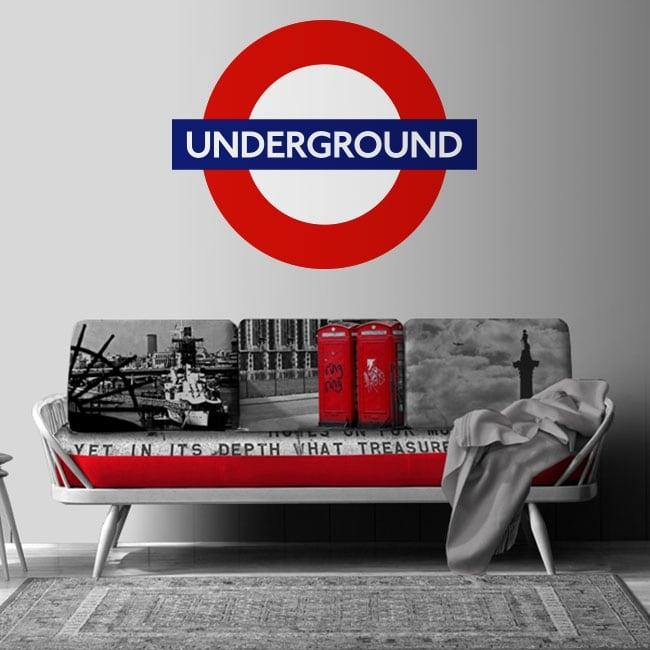 Vinilos decorativos underground metro de londres