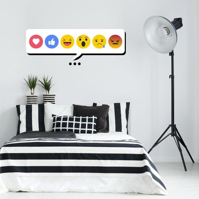 Vinilos decorativos y pegatinas emojis o emoticonos