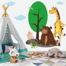 Vinilos infantiles o juveniles animales en el bosque