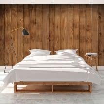 Fotomurales de vinilos imitación de madera