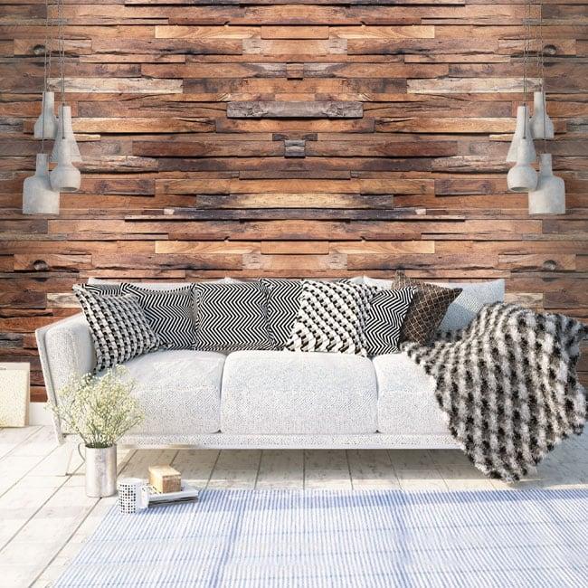 Fotomurales de vinilos con efecto madera
