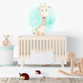 Vinilos infantiles o de bebé jirafa