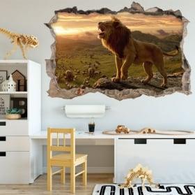 Vinilos decorativos y pegatinas 3d el rey león