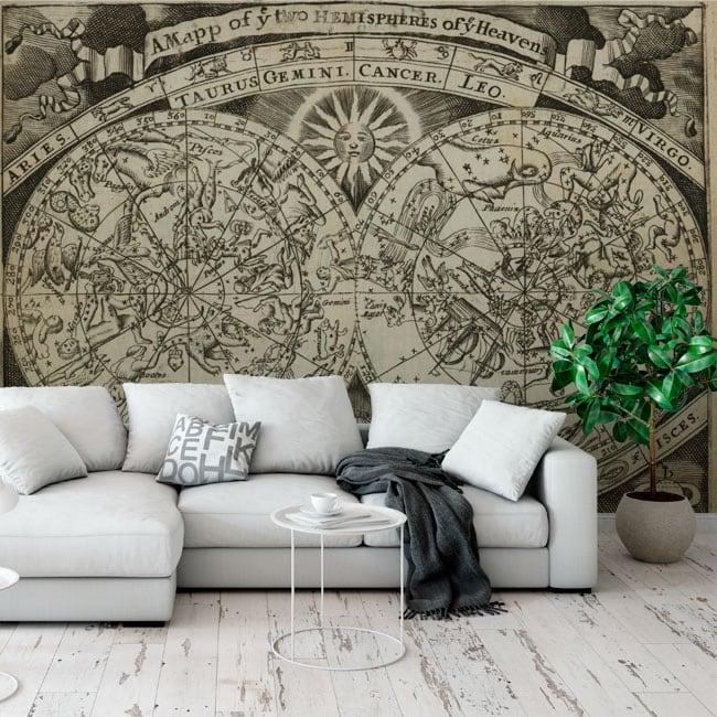 Fotomurales mapa astral signos zodiaco