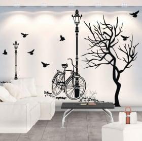 Vinilos decorativos de pared paisaje otoñal