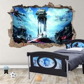 Vinilos decorativos y pegatinas 3d star wars battlefront