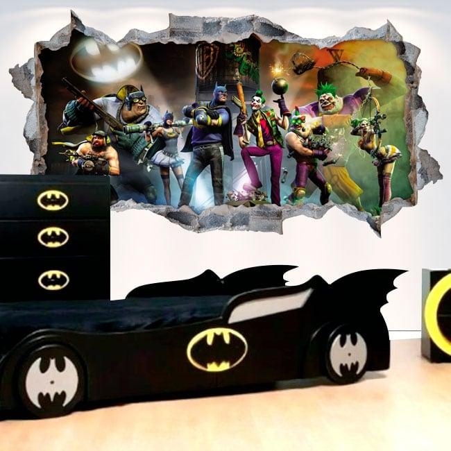 Vinilos decorativos 3d batman gotham city impostors