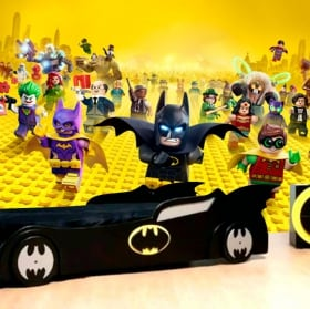 Fotomurales de vinilos batman lego