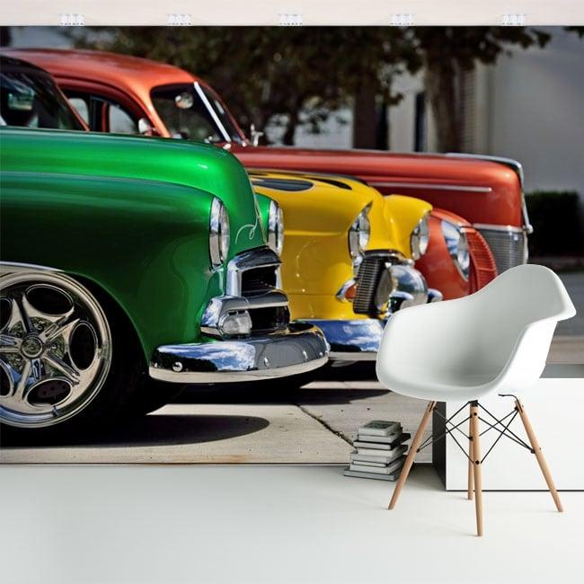 Fotomurales de vinilos con coches chevrolet vintage