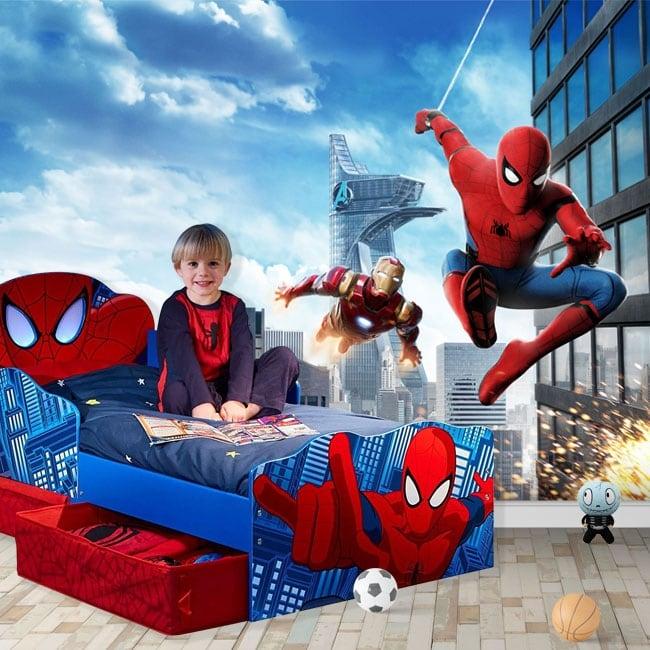 Fotomurales marvel ironman y spiderman