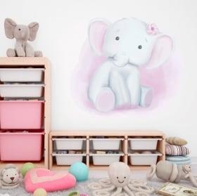 Vinilos decorativos infantiles elefante