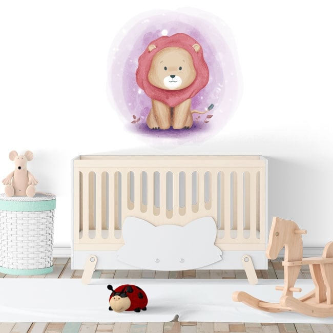 Vinilos infantiles o para bebés león
