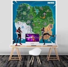 Vinilos y pegatinas mapa fortnite