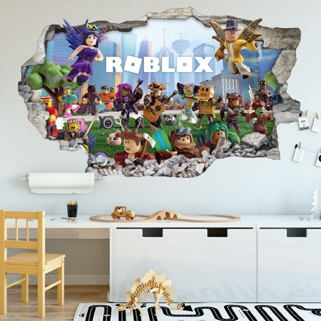Vinilos 3d videojuego roblox