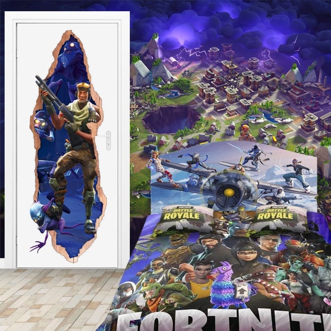 Fotomurales mapa 3d videojuego fortnite