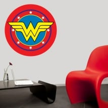 Vinilos decorativos escudo wonder woman