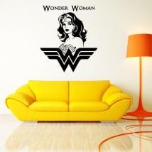Vinilos decorativos y pegatinas silueta wonder woman