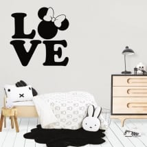 Vinilos decorativos y pegatinas love disney