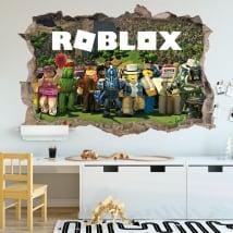 Pegatinas de vinilos videojuego roblox 3d