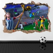 Vinilos decorativos 3d videojuego fortnite world cup