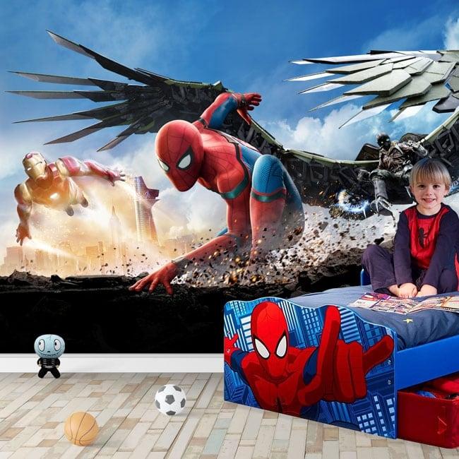 Fotomurales de vinilos spiderman homecoming
