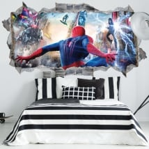 Vinilos paredes spiderman 3d