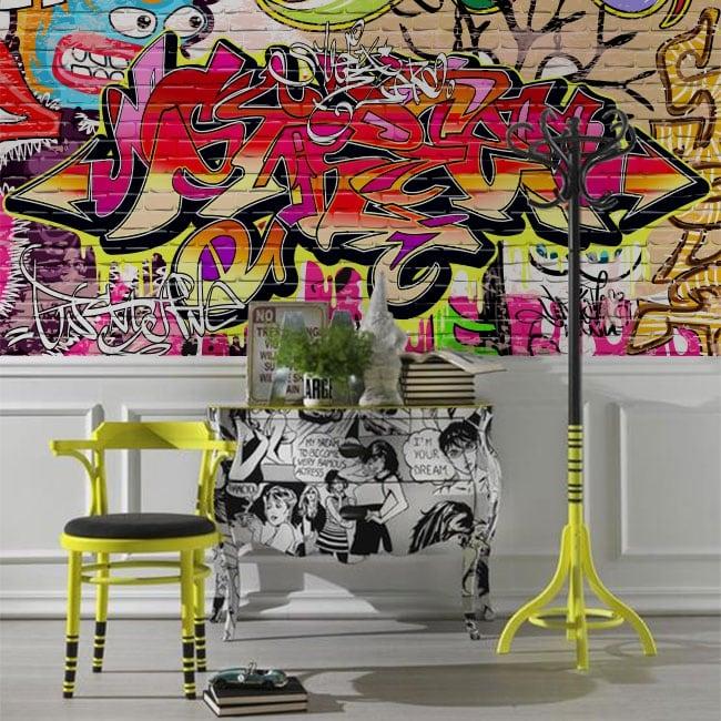 Fotomurales de vinilos graffiti