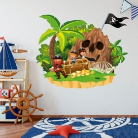 Vinilos infantiles el tesoro del pirata